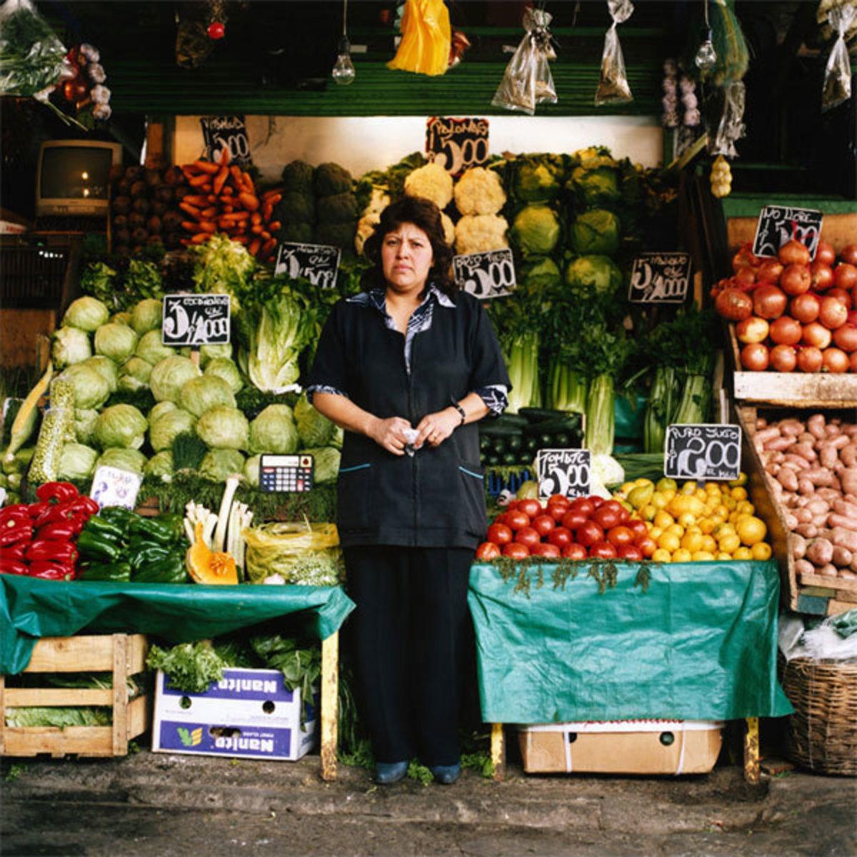 Fruit and Vegetables Stall #1, La Vega Central, Santiago, Chile