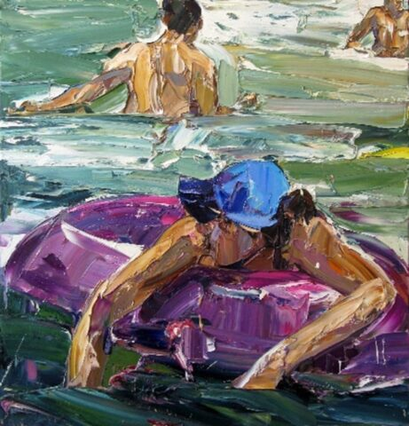 In the Swell (swim-ring and blue hat)
