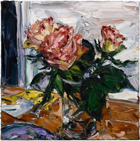 Paris still life (three roses)