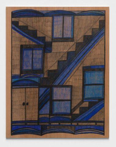 Wood drawing (four windows)