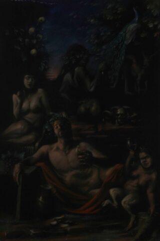 Hill End bacchanal (portrait of Luke Sciberras)