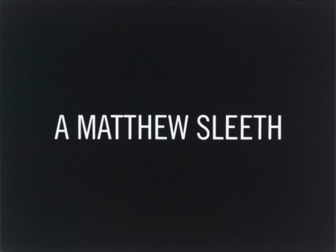 White Box: A Matthew Sleeth