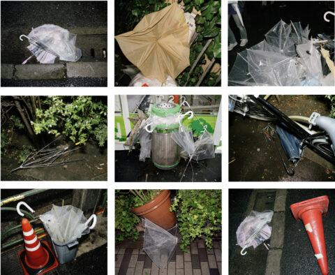 Abandoned umbrellas