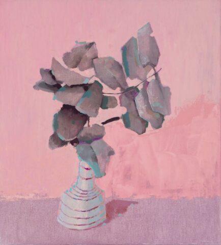 Leaves in a vase (pink)