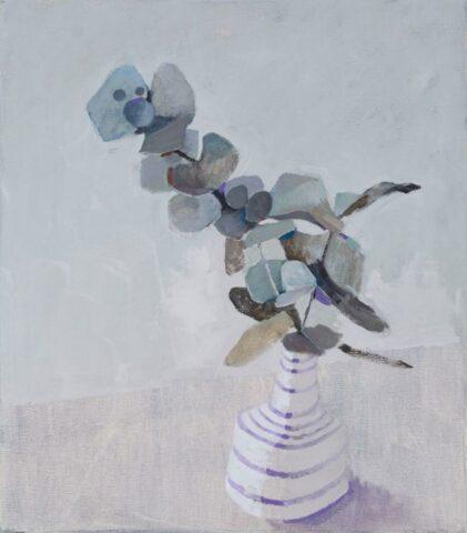 Leaves in a vase (grey)