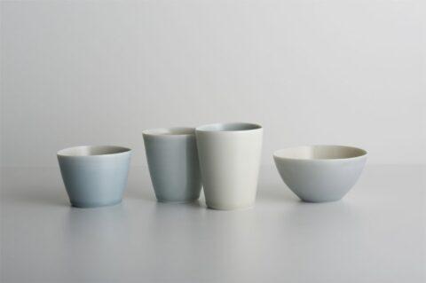 Quartet, blue/cream