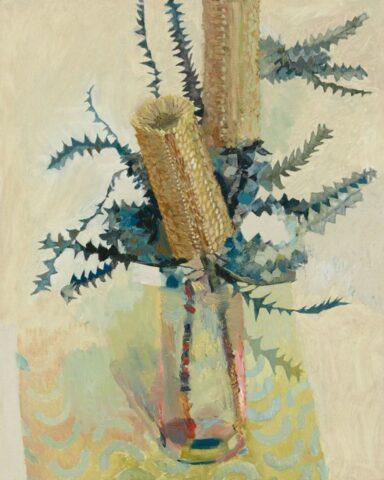Banksia on yellow