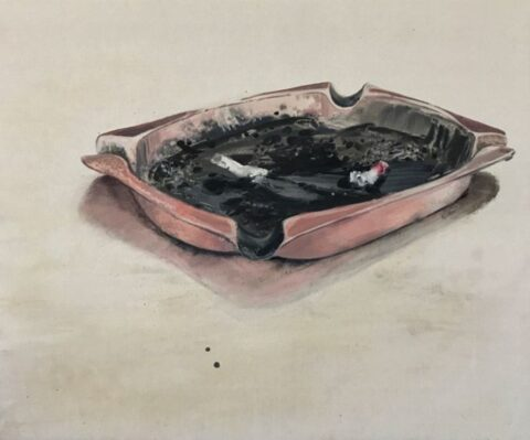 Two cigarettes in an ashtray, revisited