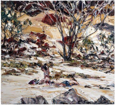 Estuary landscape (two figures)