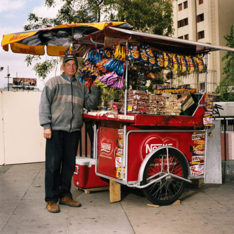 Snack stand, Santiago, Chile