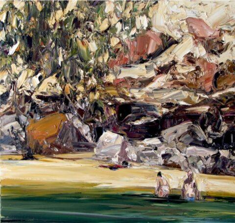 Estuary landscape (bathers)