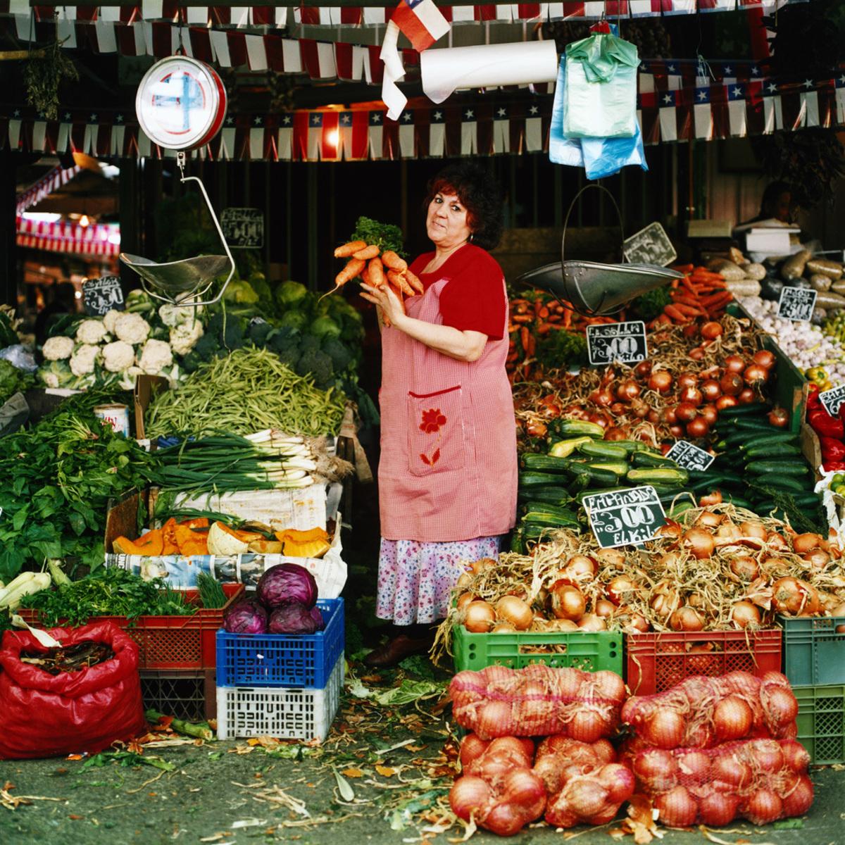 Fruit and Vegetables Stall #2, La Vega Central, Santiago, Chile