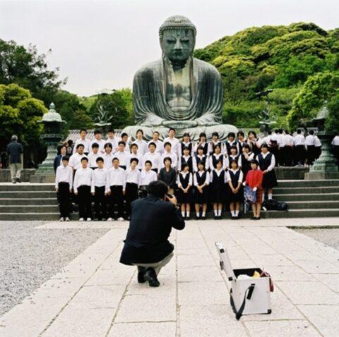 School Photograph, Daibutsu, Kotokuin Temple, Kamakura