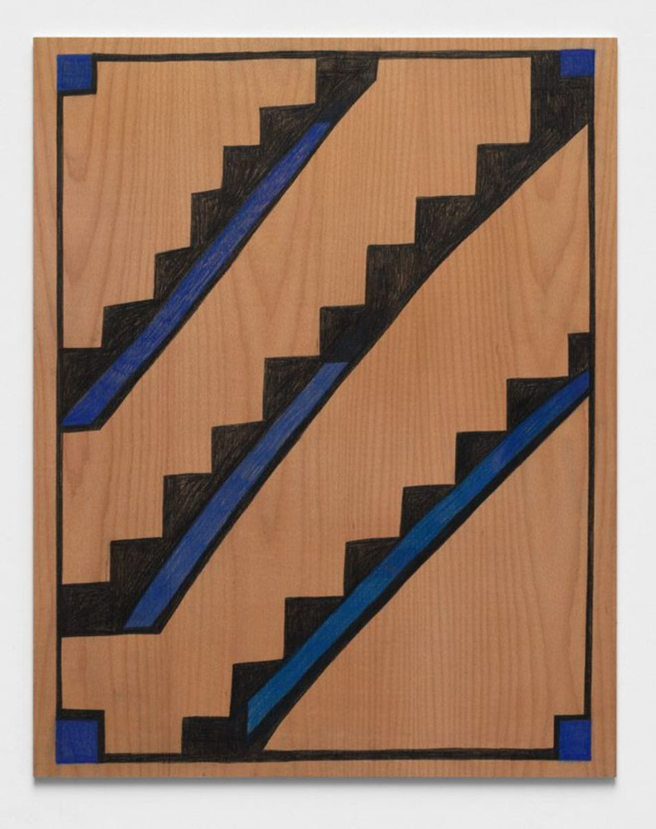 Wood drawing (stairs)