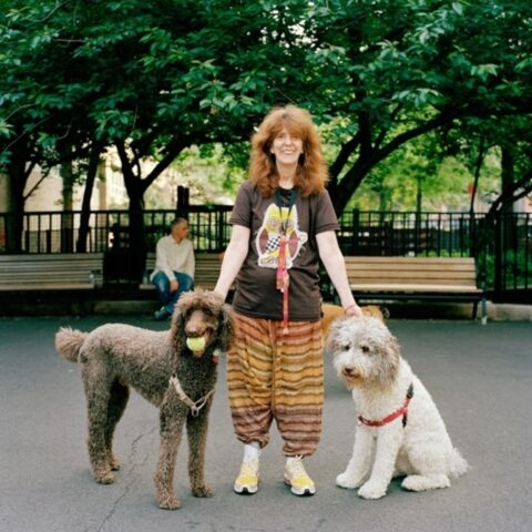 Clementine, Liz and Billy Bob, Mercer-Houston Dog Run, Greenwich Village, New York