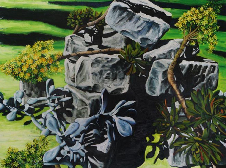 Ruins with poplar shadows