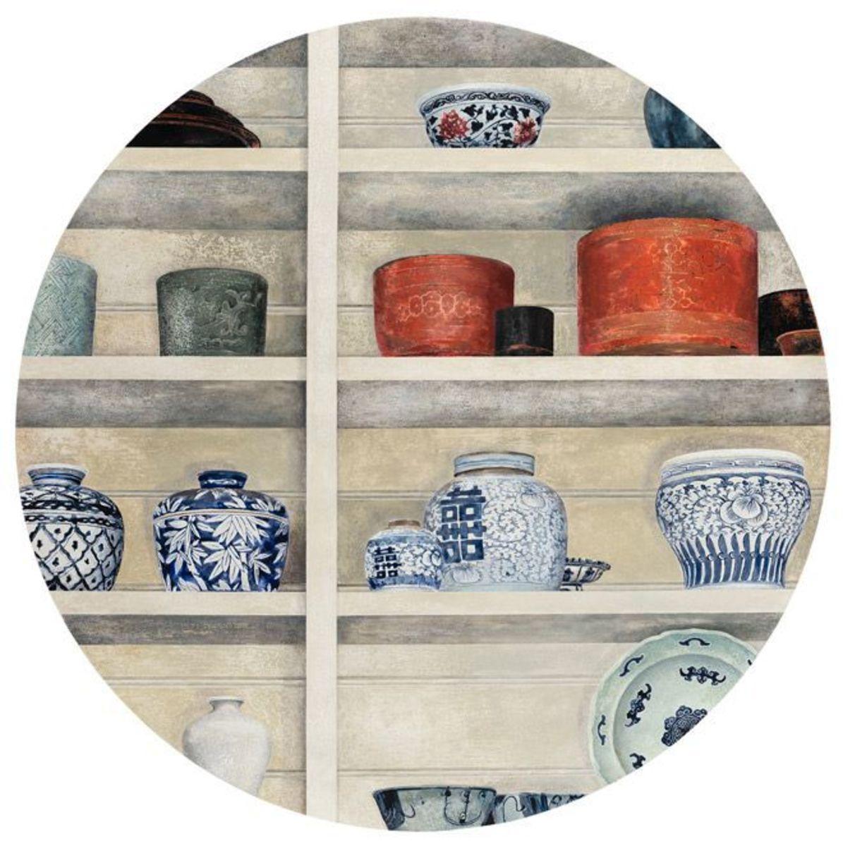 Celadon with Ceramics and Lacquerware