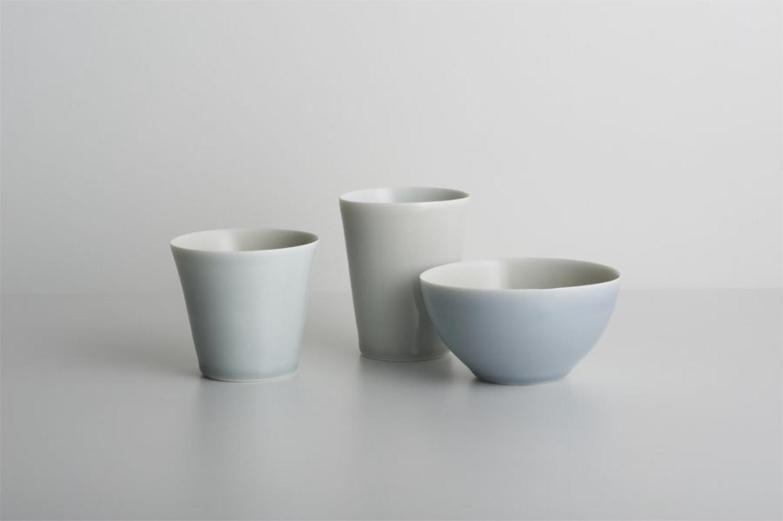 Trio, blue/beige