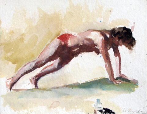 Beach figure (red bikini and waterbottle)
