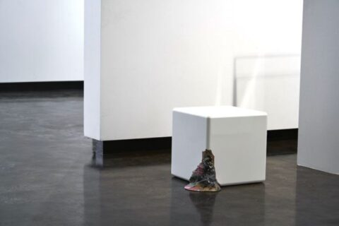 One white cube