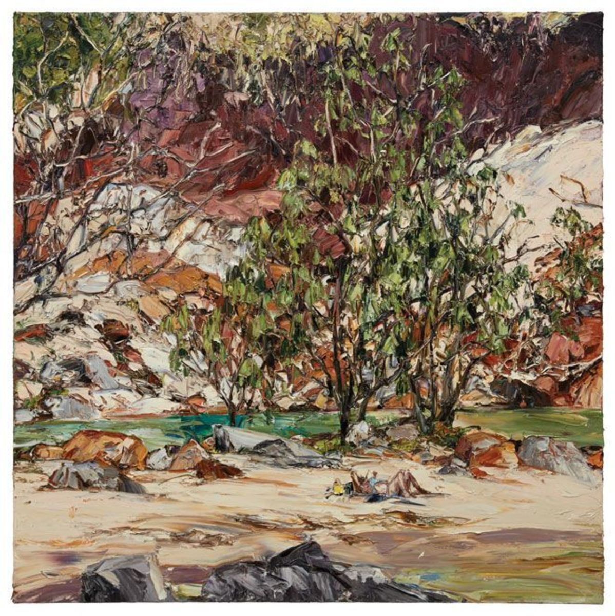 Estuary figure (swamp oaks and book)
