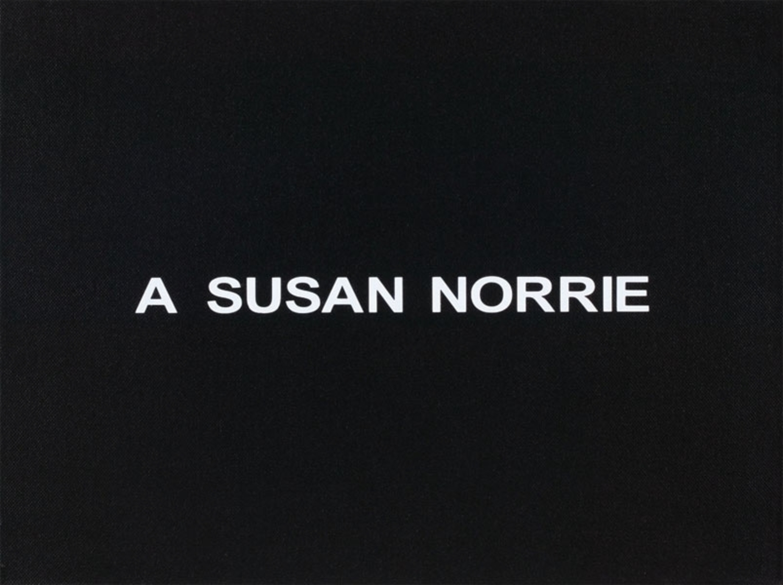 White Box: A Susan Norrie
