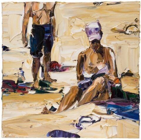 Beach life (white hat and thongs)