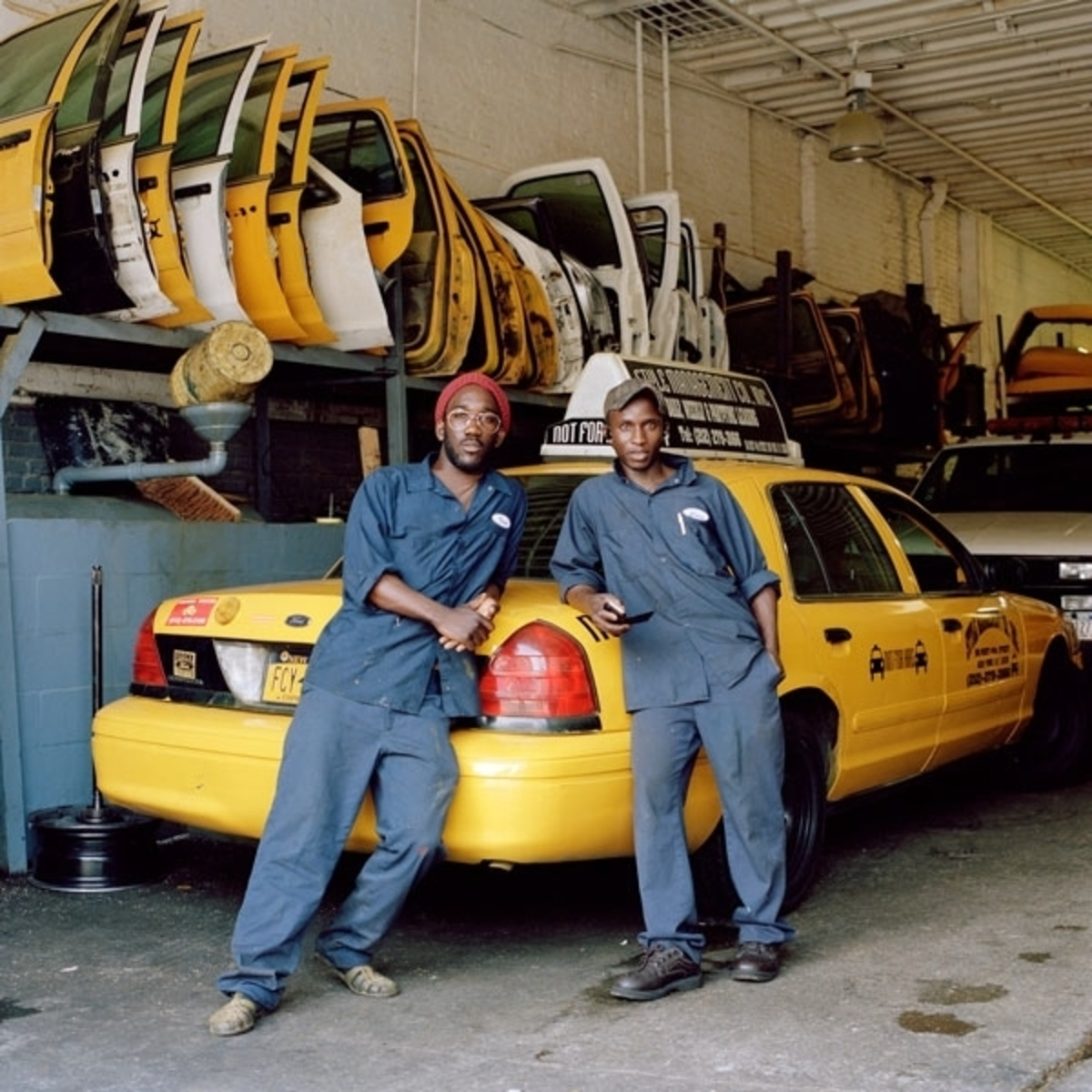 Issa and Lamine, Taxi Mechanics, Upper West Side, New York