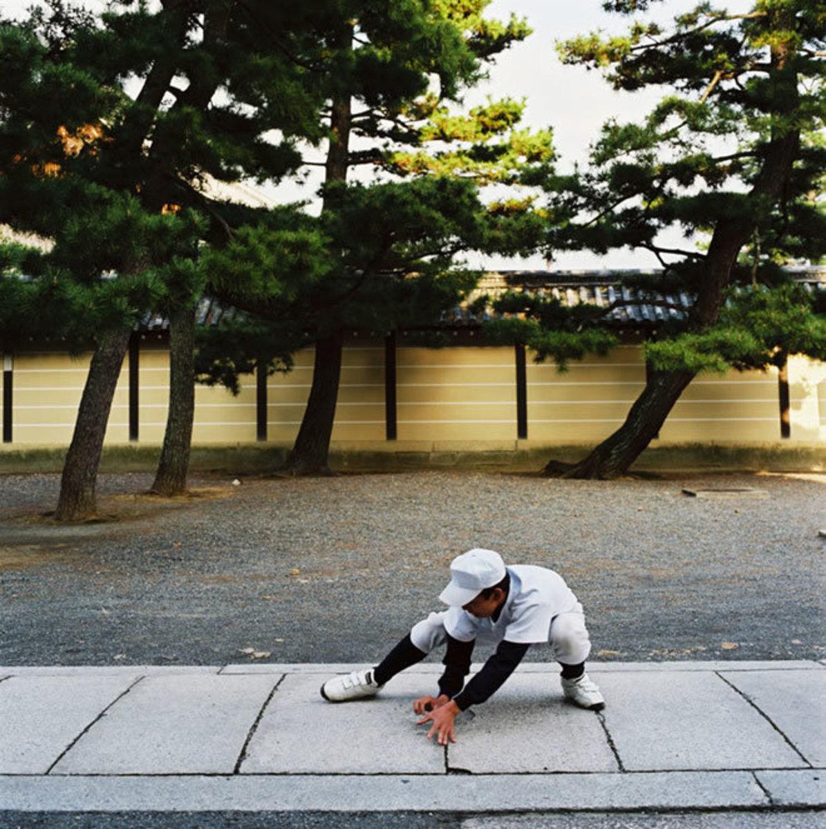 Baseball training, Myoshinji Temple, Kyoto