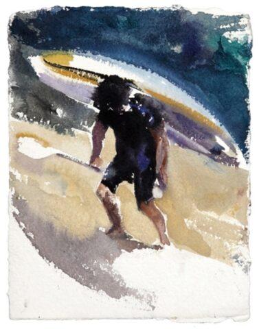 River figure (kayak and paddle)