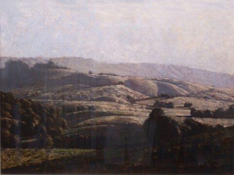 Landscape behind Byron