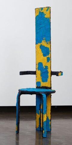 Tall flat back chair