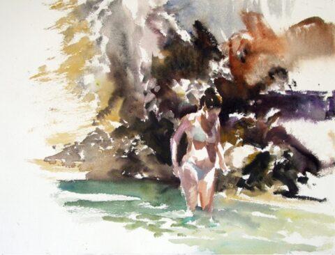 River figure (bather)