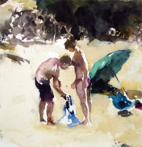 Beach figures (umbrella and thongs)