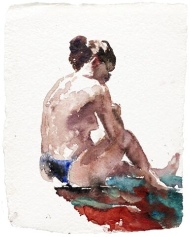 Beach figure (sunnies and towel)