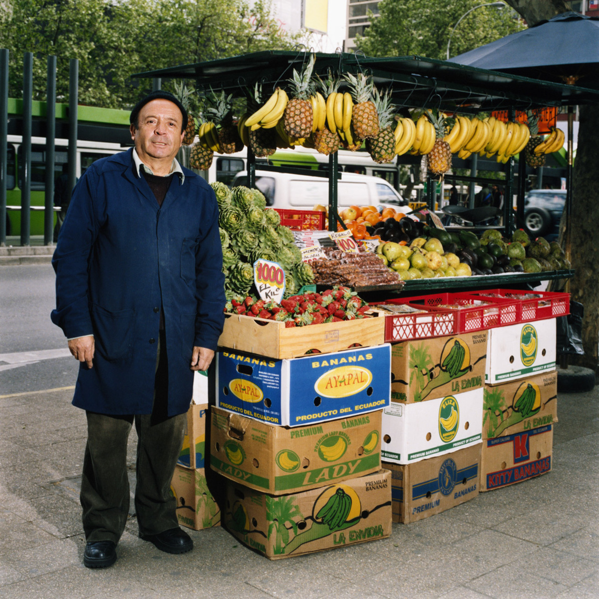Fruit and Vegetables Stall, Procidencia, Santiago, Chile