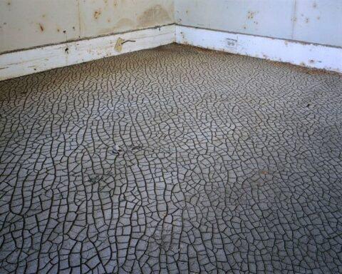 Livingroom floor, 9th ward neighbourhood, New Orleans