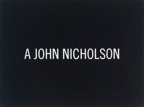 White Box: A John Nicholson