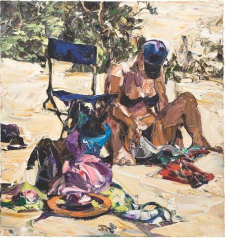 Beach life (frisbee, thong and chair)