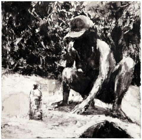 Beach figure (hat and waterbottle)