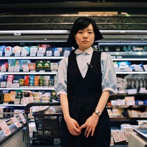 Supermarket assistant, Roppongi Hills, Tokyo
