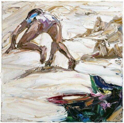 Beach figures (frisbee and sandcastles)