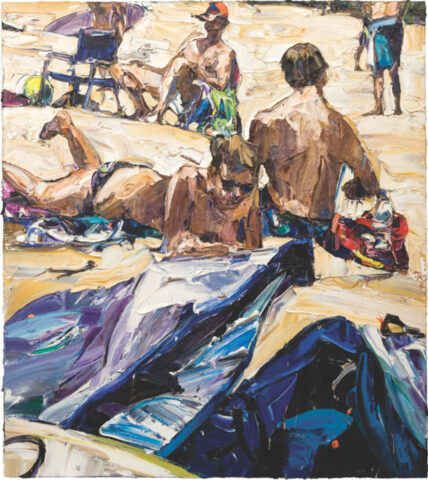 Beach life (board bags, thongs and figures)